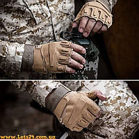 Тактические перчатки BLACKHAWK (без пальцев, песочные, койот, тан)