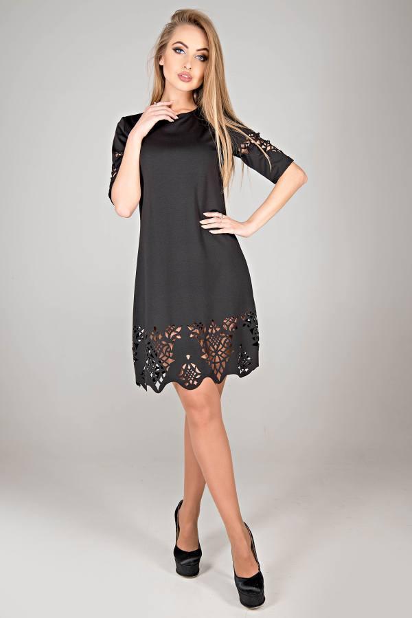 Молодежное платье Фисента черный(44-52)
