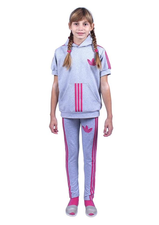 детский костюм для спортивных тренировок серого цвета