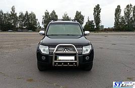 Кенгурятник QT007 (нерж.) - Mitsubishi Pajero Wagon III