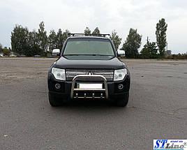 Кенгурятник QT006 (нерж.) - Mitsubishi Pajero Wagon III