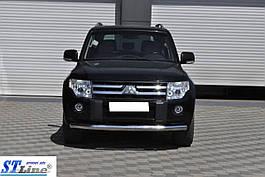 Передня захист ST008 (нерж.) - Mitsubishi Pajero Wagon III