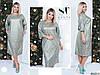 Красивое платье батал из итальянского трикотажа (4 расцветки) Р5059678