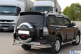 Задня дуга AK003 Подвійний (нерж.) - Mitsubishi Pajero Wagon III