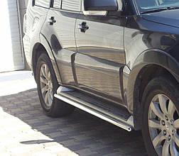 Бічні труби під рідний (2 шт., нерж.) - Mitsubishi Pajero Wagon III