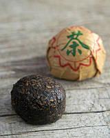 Китайский чай Шу(черный) пуэр(пуер) прессованный мини точа классический и с рисом. Вес 5 грамм.