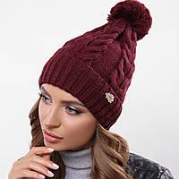 Молодежная теплая шапка на зиму