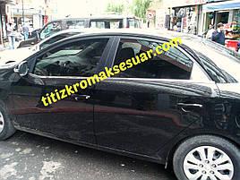 Окантовка стекол (4 шт, нерж.) - Kia Cerato 2 2010-2013 гг.