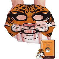 Восстанавливающая тканевая маска для лица с принтом Тигр BIOAQUA Animal Tiger Supple Mask, фото 1