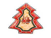 """Блюдо новогоднее в форме елки """"Санта"""""""