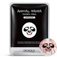 Смягчающая тканевая маска для лица с принтом Панда BIOAQUA Animal Panda Tender Mask, фото 1