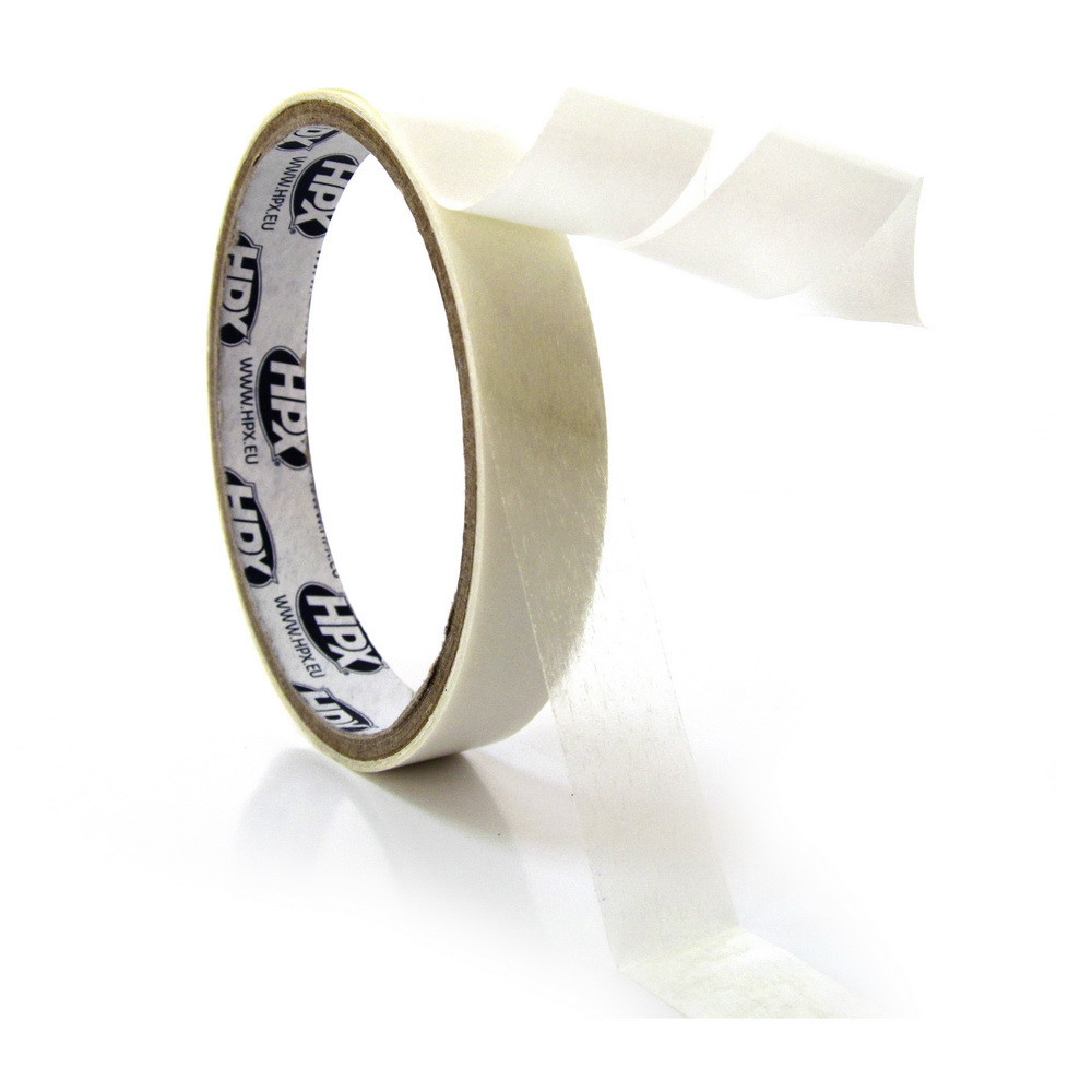 НРХ 17350 - тонкая пленочная двухсторонняя клеящая лента (скотч) для временной фиксации - 0.17мм - 19мм x 50м