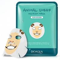 Питательная тканевая маска для лица с принтом ОвечкаBIOAQUA Animal Sheep Nourish Mask, фото 1