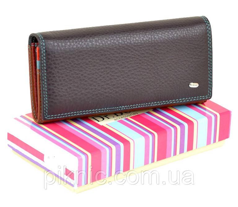 814b79b84315 Женский кожаный кошелек Rainbow, клатч, портмоне Dr Bond. Из натуральной  кожи. Фиолетовый