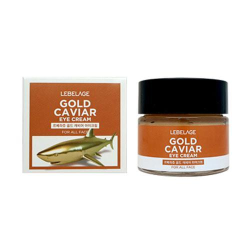 Ампульный крем с экстрактом икры LEBELAGE Ampule Cream Gold Caviar, 70 мл