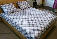 Комплект постельного белья бязь Голд Клетка Евро