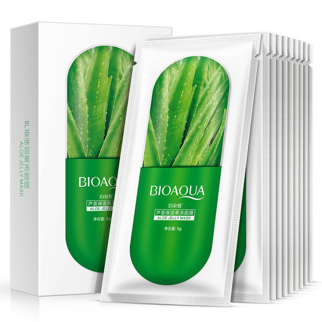 Ночная гелевая маска для лица с алое​​​​​​​ BIOAQUA Aloe Jelly Mask 8g