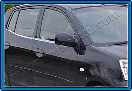 Нижние молдинги стекол (4 шт., нерж) - Kia Picanto 2004-2011 гг.