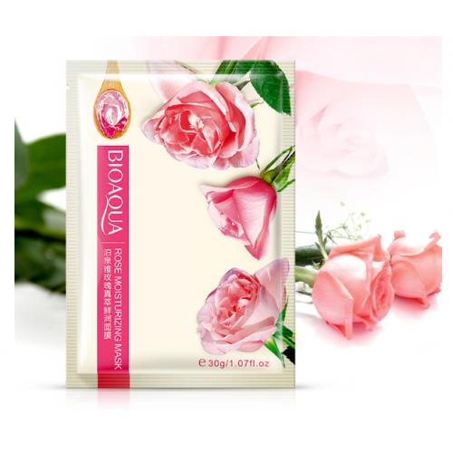 Набор тканевых масок  для лица 3 шт. BioAqua с экстрактом розы  rose moisturizing mask 30g