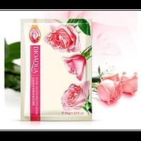 Набор тканевых масок  для лица 3 шт. BioAqua с экстрактом розы  rose moisturizing mask 30g, фото 1