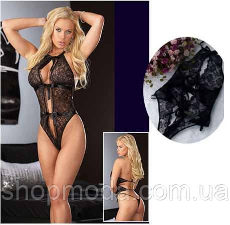 Эротическое женское белье Сексуальное Ажурное боди, фото 2