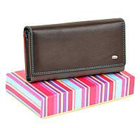 Женский кожаный кошелек, клатч, портмоне Rainbow Dr Bond. Из натуральной кожи. Кофе