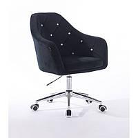 Кресло 830 черный велюр