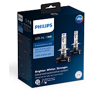Автолампы PHILIPS LED H4 Premium +200% more vision 12V, 23W, P43t-38