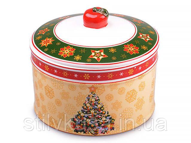 Банка для сыпучих продуктов новогодняя Елка