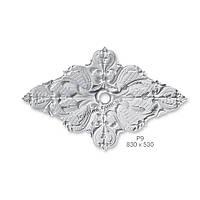 """Интерьер потолка лепниной из гипса разных форм и элементов """"Розетка"""" размер 530х830 мм"""