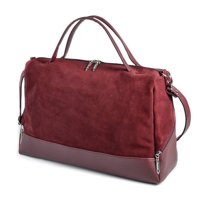 830c87673907 Большая бордовая сумка М113-38/замш из натуральной замши: продажа ...