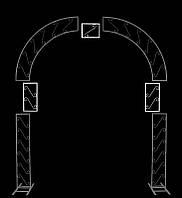 Вставка для расширения свадебной арки №1