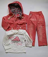 Вельветовый костюм на девочку, тройка