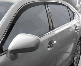 Дефлекторы окон (ветровики) с хромом Lexus LS600H 2шт (HIC)