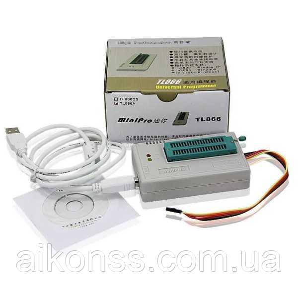 Программатор USB TL866A + 6  адаптеров и экстрактор