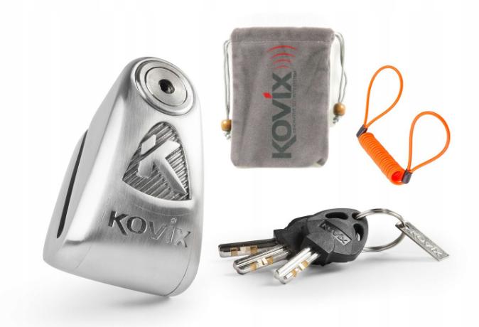 Мотозамок KOVIX KAL10 Lock с сигнализацией 120dB + Freebies