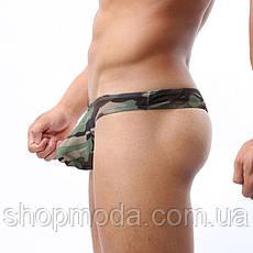 Мужские стринги камуфляжные, фото 2