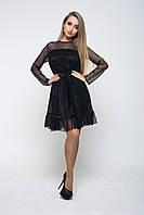 Платье черное К 00507 с 01