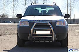Кенгурятник QT007 (нерж.) - Land Rover Freelander I