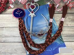 Набор Анны из Холодное сердце коса, волшебная палочка и ободок