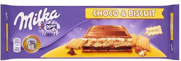 Молочный шоколад Milka Choco Biscuit Чоко Бисквит  300 гр
