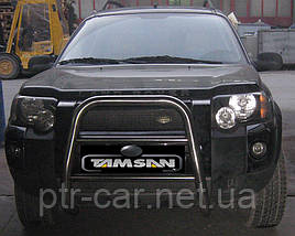 Кенгурятник QT008 (нерж) - Land Rover Freelander II