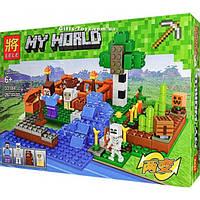 "Конструктор Lele 33184 Майнкрафт ""Ферма с водопадом"" аналог Lego Minecraft, 267 детали"