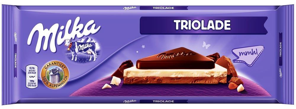Молочный шоколад Milka Triolade Трилогия   300 гр