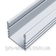 """Серия """"Econom"""" Профиль алюминиевый LED ЛП12 12х16мм, анодированный, цвет - серебро."""