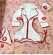 Эротический игровой  халатик медсестры S-М белый, фото 3