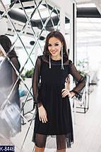 Стильное черное платье с сеточкой, фото 3