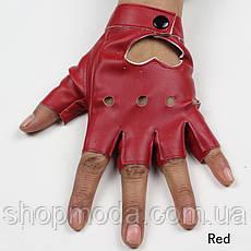 Кожаные перчатки с сердечками, фото 3