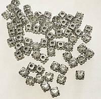 Стразы прозрачные в металических цапах сталь, SS34 720 шт/упаковка