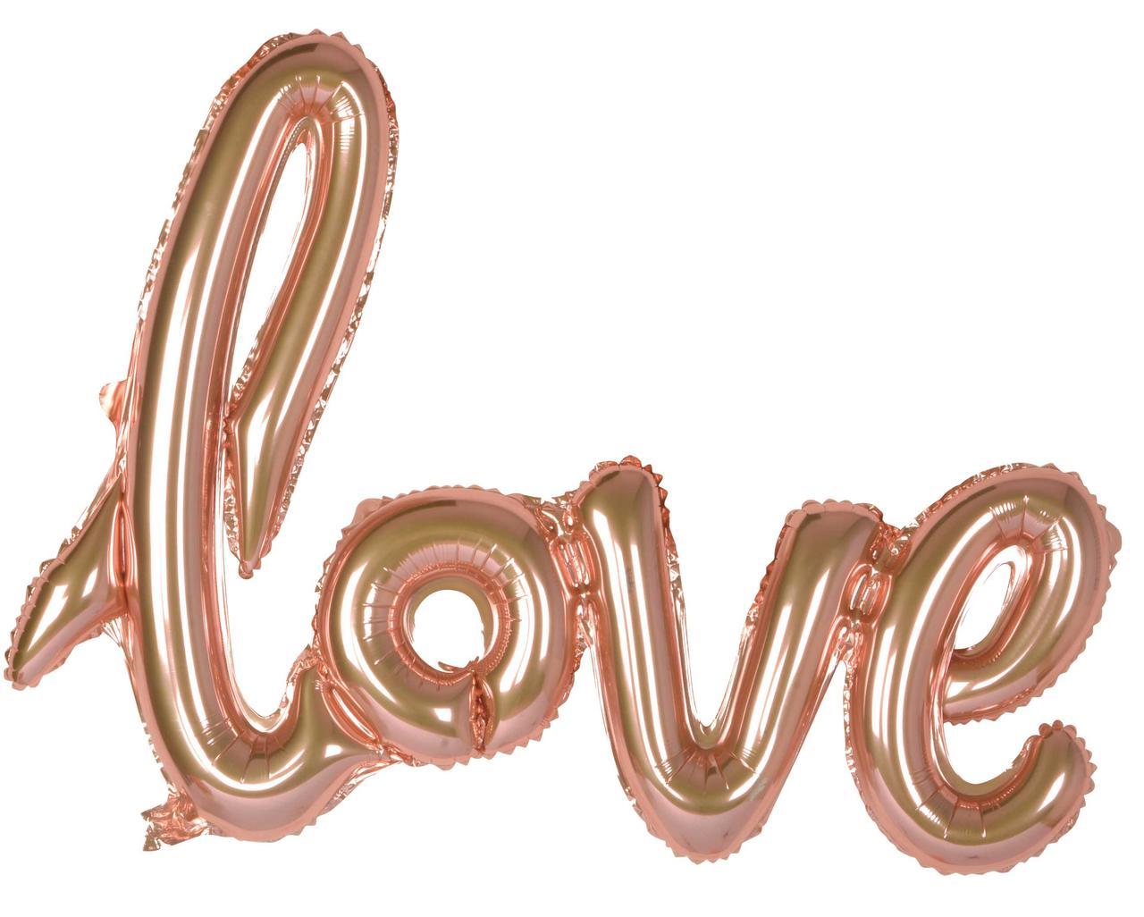 Гирлянда Love розовое золото